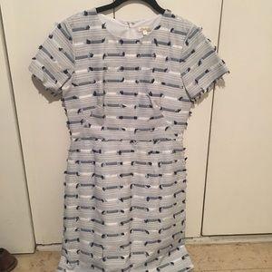 Navy & White Shoshanna Dress